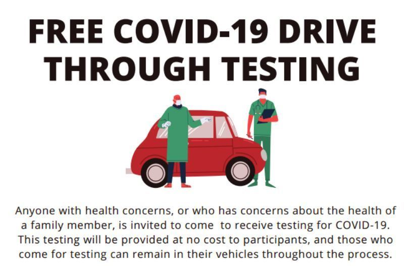 EMBRY HEALTH COVID-19 Drive-Thru Testing at DHS Parking Lot