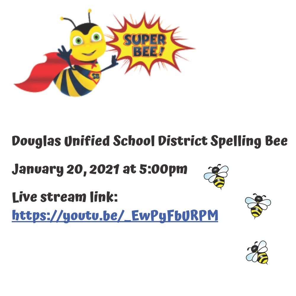 DUSD Spelling Bee - January 20, 2021 at 5:00 PM (LIVE STREAM)