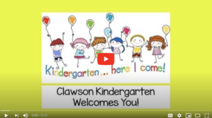 Clawson Kindergarten Welcomes You!