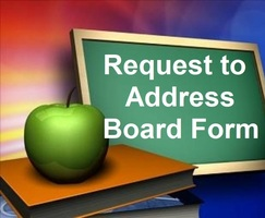 Request to Address Board Form & Instructions for Governing Board Meetings